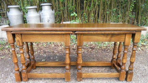 Long Oak Refectory Style Coffee Table